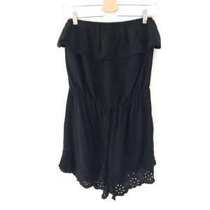 Mossimo Supply Co. | Black Strapless Shorts Romper